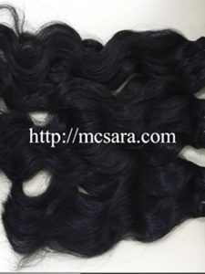 Vietnam human hair Double drawn natural wavy black color
