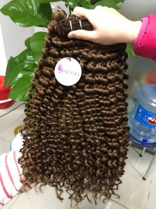 VIETNAM NATURAL HAIR DOUBLE WEFT CURLY HAIR COLOR 5