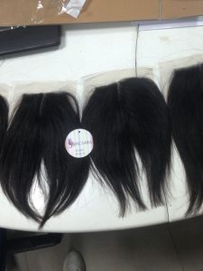 Vietnam lace closure straight hair extensions SIZE 4.5''x5.5''