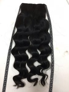 VIETNAM REMY PONYTAIL BODY WAVY HAIR COLOR 1B
